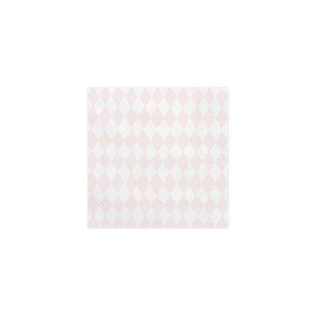 Servilletas de rombo color rosa claro