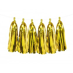 Guirnalda de borlas de color dorada