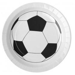 Platos de futbol blancos