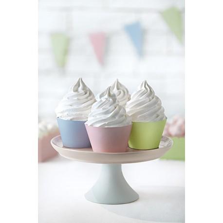 Cápsulas para cupcake de colores pastel