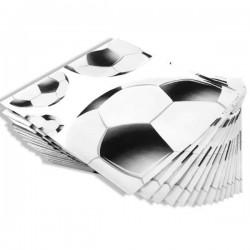 Servilletas futbol blanco/negro