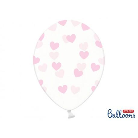 globos con corazones rosa claro