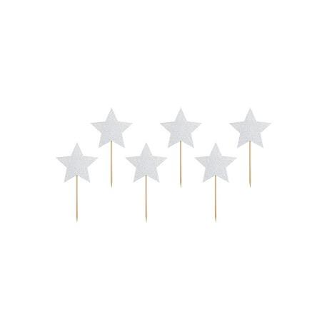 Toppers de estrellas de plata