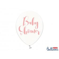 Globos Baby shower texto rosa