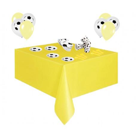 Pack especial futbol amarillo y blanco
