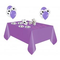 Pack especial futbol violeta y blanco