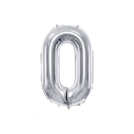Globo plata de foil número 0