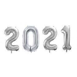 Globos plata año nuevo 2021 (86 cm.)