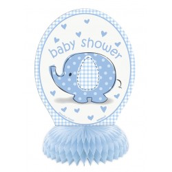 Adornos para mesa de Elefante con sombrilla azul