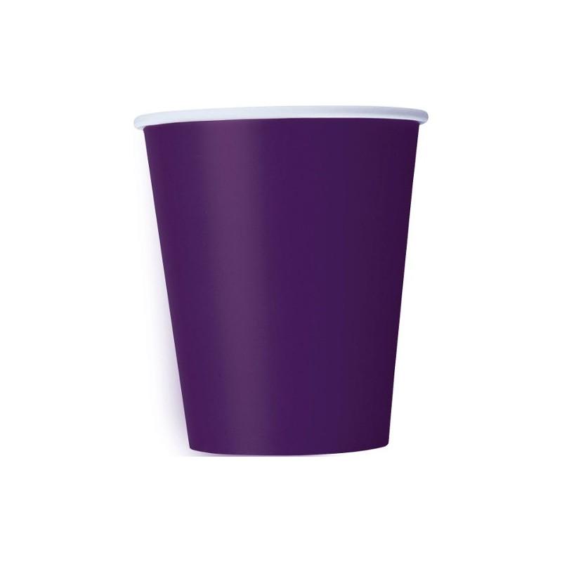 Vasos de color violeta oscuro - Vasos de colores ...