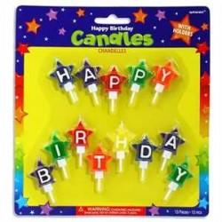 Velas de estrellas de cumpleaños