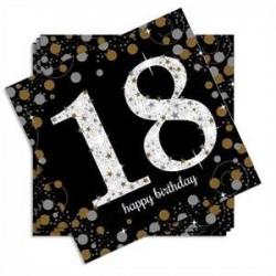 Servilletas de cumpleaños 18