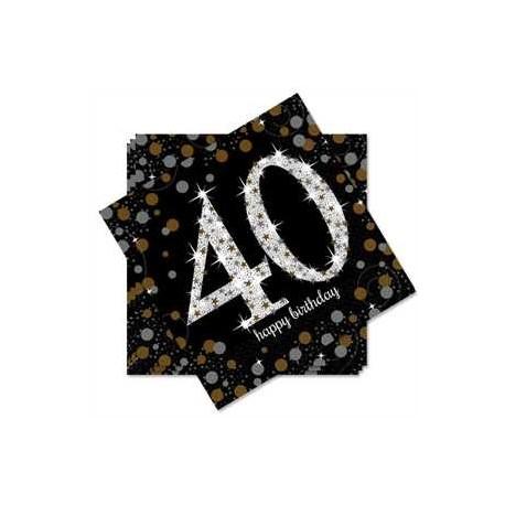 Servilletas de cumpleaños 40