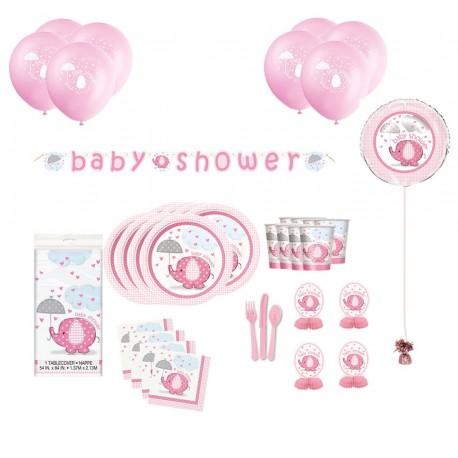 Pack Especial Elefante con sombrilla rosa
