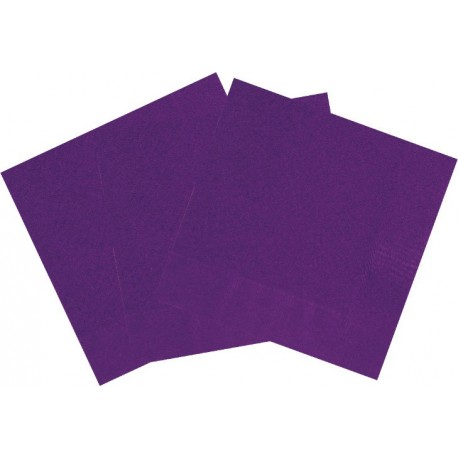 Servilletas de color violeta oscuro
