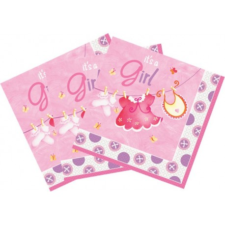 Servilletas de Ropa de bebe rosa