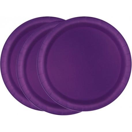 Platos de color violeta oscuro