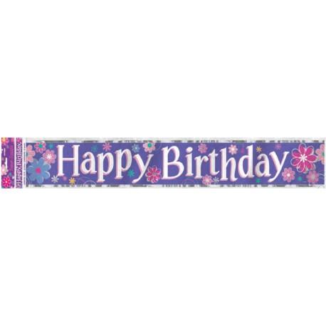 Guirnalda Happy Birthday de fllores