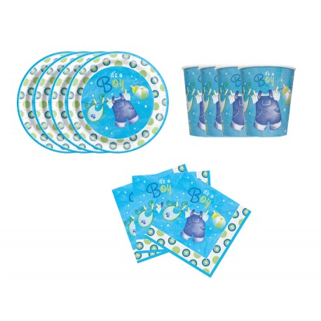 Mini pack de Ropa de bebe azul para 8