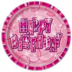 Platos Happy Birthday Rosa