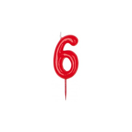 Vela roja número 6
