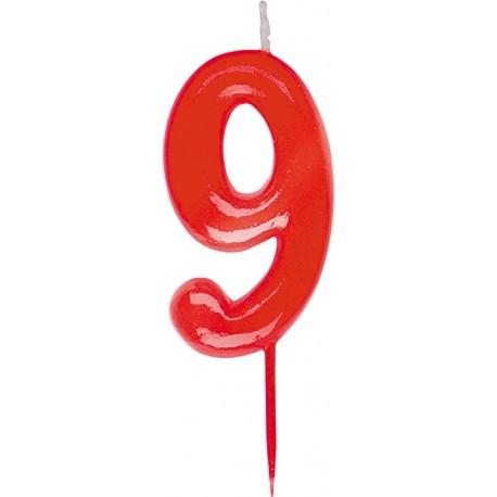 Vela roja número 9