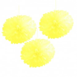 Pompones de color amarillo (40 cm)