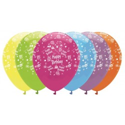 Globos Happy Birthday colores