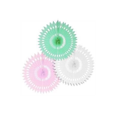 3 Abanicos color pastel