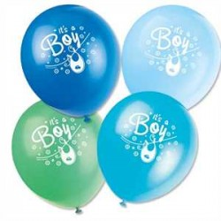 Globos de látex Its a boy tonos azules