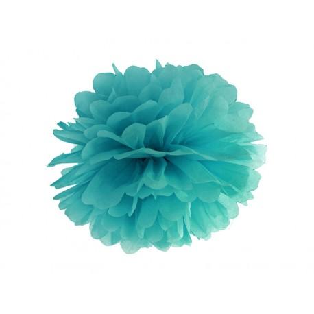 Pompón de color turquesa (35 cm)