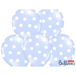 Globos de lunares de color azul claro