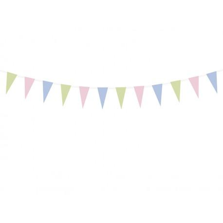2 guirnaldas de banderines de colores