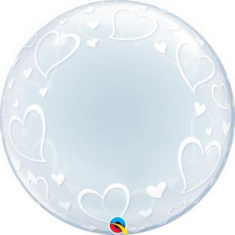 Globo Bubble de Corazones con estilo