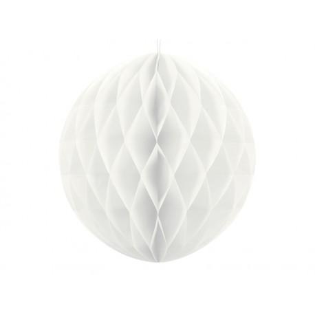 Bola de nido de abeja blanca (30 cm)